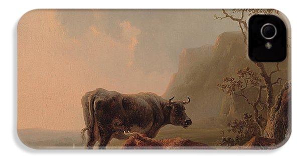 Cattle In An Italianate Landscape IPhone 4 / 4s Case by Jacob van Strij
