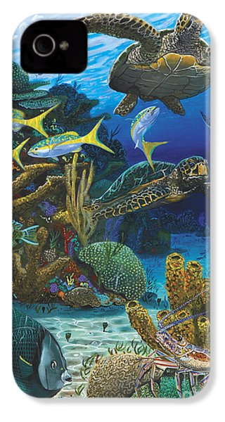 Cayman Turtles Re0010 IPhone 4 / 4s Case by Carey Chen