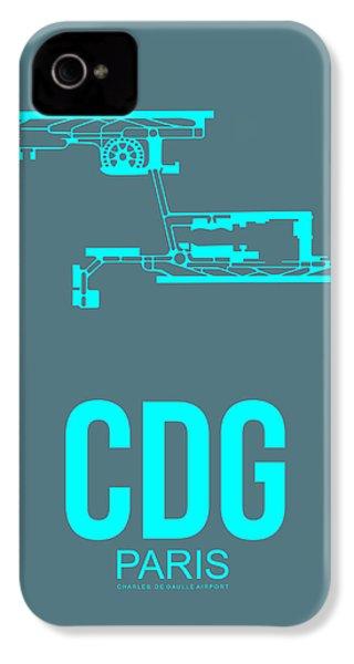 Cdg Paris Airport Poster 1 IPhone 4 / 4s Case by Naxart Studio