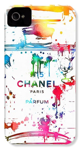 Chanel Number Five Paint Splatter IPhone 4 / 4s Case by Dan Sproul
