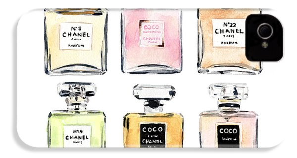 Chanel Perfumes IPhone 4 / 4s Case by Laura Row Studio