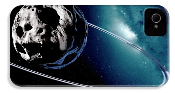 Chariklo Minor Planet And Rings IPhone 4 / 4s Case by Detlev Van Ravenswaay