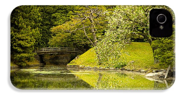 Cherry Blossom Japanese Garden IPhone 4 / 4s Case by Sebastian Musial