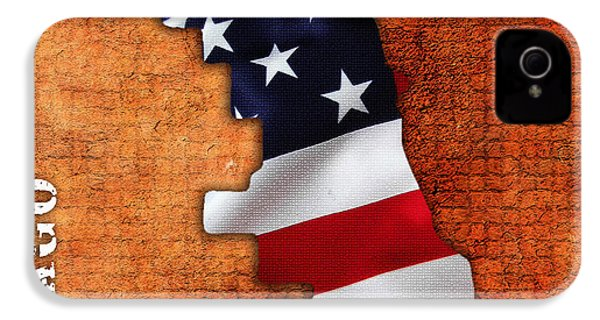 Chicago American Flag City Map IPhone 4 / 4s Case by Marvin Blaine