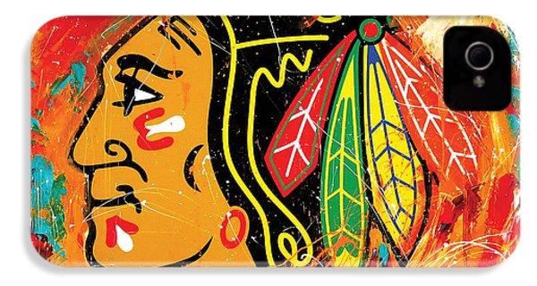 Chicago Blackhawks Logo IPhone 4 / 4s Case by Elliott From