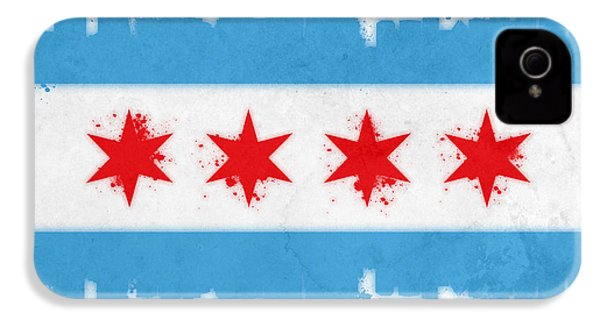Chicago Flag IPhone 4 / 4s Case by Mike Maher