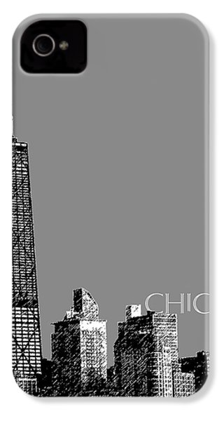 Chicago Hancock Building - Pewter IPhone 4 / 4s Case by DB Artist