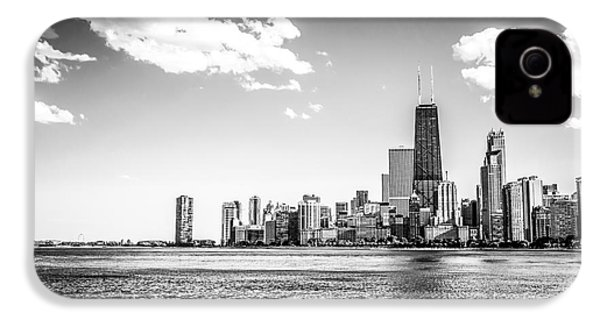 Chicago Lakefront Skyline Black And White Picture IPhone 4 / 4s Case by Paul Velgos