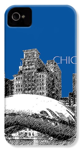 Chicago The Bean - Royal Blue IPhone 4 / 4s Case by DB Artist