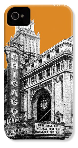 Chicago Theater - Dark Orange IPhone 4 / 4s Case by DB Artist