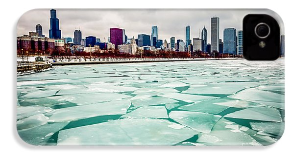 Chicago Winter Skyline IPhone 4 / 4s Case by Paul Velgos