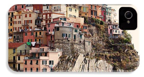 Cinque Terre Mediterranean Coastline IPhone 4 / 4s Case by Kim Fearheiley