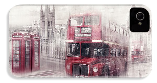 City-art London Westminster Collage II IPhone 4 / 4s Case by Melanie Viola