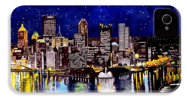 City Of Pittsburgh At The Point IPhone 4 / 4s Case by Christopher Shellhammer