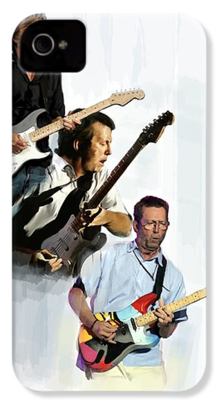 Clapton Eric Clapton IPhone 4 / 4s Case by Iconic Images Art Gallery David Pucciarelli