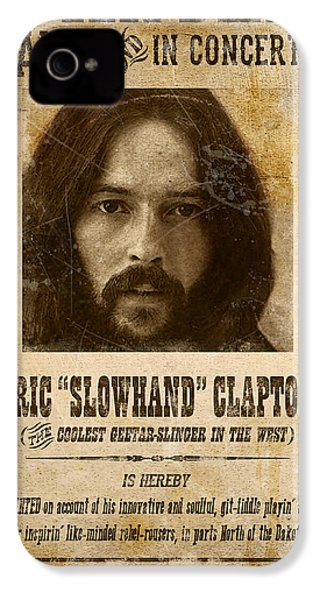 Clapton Wanted Poster IPhone 4 / 4s Case by Gary Bodnar