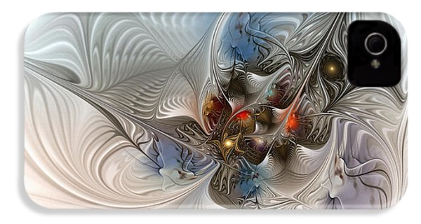 Cloud Cuckoo Land-fractal Art IPhone 4 / 4s Case by Karin Kuhlmann