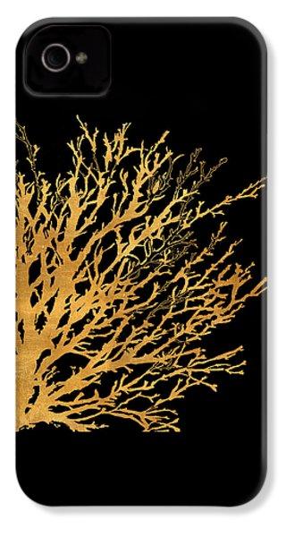 Coastal Coral On Black II IPhone 4 / 4s Case by Lanie Loreth