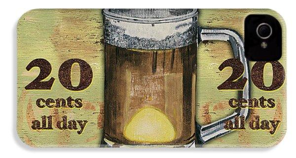 Cold Beer IPhone 4 / 4s Case by Debbie DeWitt