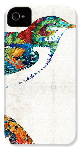 Colorful Bird Art - Sweet Song - By Sharon Cummings IPhone 4 / 4s Case by Sharon Cummings