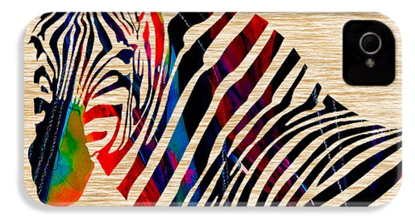 Colorful Zebra IPhone 4 / 4s Case by Marvin Blaine