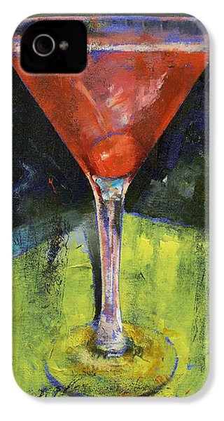 Comfortable Cherry Martini IPhone 4 / 4s Case by Michael Creese