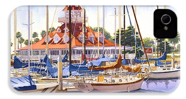 Coronado Boathouse IPhone 4 / 4s Case by Mary Helmreich
