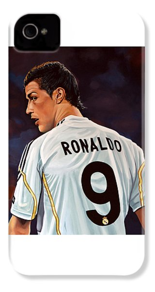 Cristiano Ronaldo IPhone 4 / 4s Case by Paul Meijering