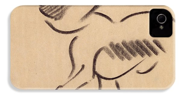Crouching Monkey IPhone 4 / 4s Case by Henri Gaudier-Brzeska
