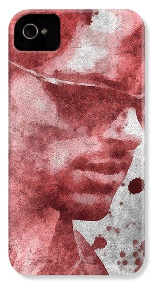Cyclops X Men Paint Splatter IPhone 4 / 4s Case by Dan Sproul