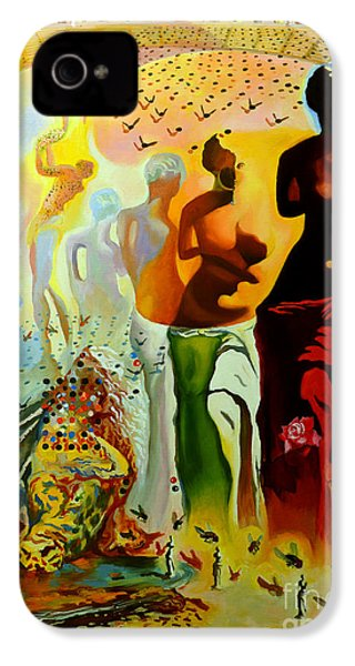 Dali Oil Painting Reproduction - The Hallucinogenic Toreador IPhone 4 / 4s Case by Mona Edulesco