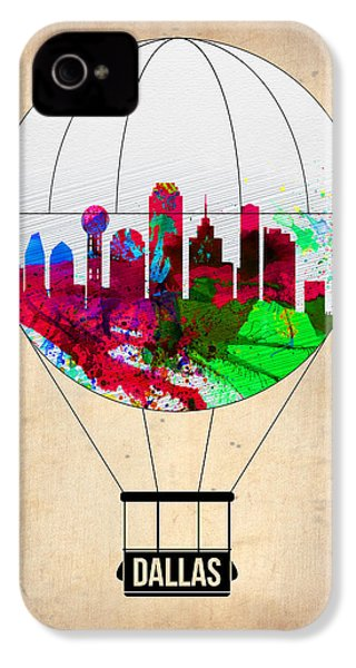 Dallas Air Balloon IPhone 4 / 4s Case by Naxart Studio