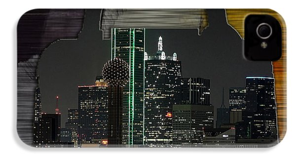 Dallas Texas Skyline In A Purse IPhone 4 / 4s Case by Marvin Blaine