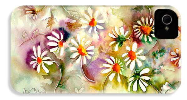 Dance Of The Daisies IPhone 4 / 4s Case by Neela Pushparaj