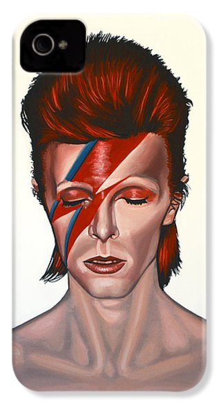 David Bowie Aladdin Sane IPhone 4 / 4s Case by Paul Meijering