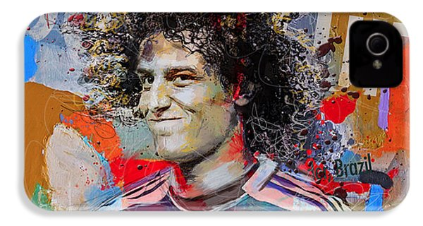 David Luiz IPhone 4 / 4s Case by Corporate Art Task Force