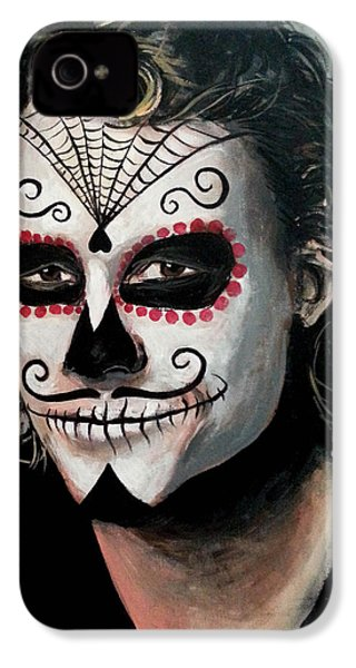 Day Of The Dead - Heath Ledger IPhone 4 / 4s Case by Tom Carlton