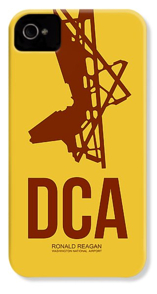 Dca Washington Airport Poster 3 IPhone 4 / 4s Case by Naxart Studio
