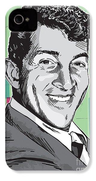 Dean Martin Pop Art IPhone 4 / 4s Case by Jim Zahniser