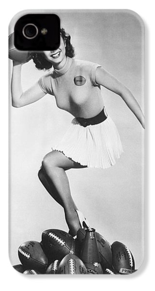 Debbie Reynolds Throws A Pass IPhone 4 / 4s Case by Underwood Archives
