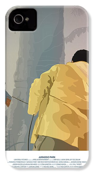 Dennis And The Dilophosaurus - Jurassic Park Poster IPhone 4 / 4s Case by Peter Cassidy