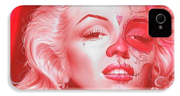 Marilyn Monroe - ' Dia De Los Monroe ' IPhone 4 / 4s Case by Christian Chapman Art