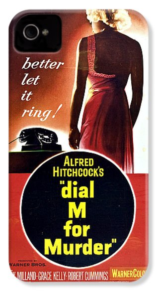 Dial M For Murder - 1954 IPhone 4 / 4s Case by Georgia Fowler