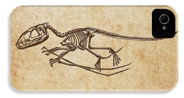 Dinosaur Pterodactylus IPhone 4 / 4s Case by Aged Pixel