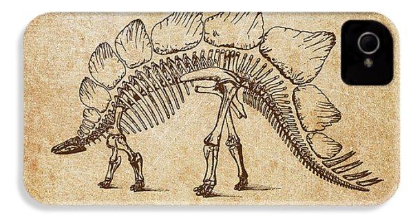 Dinosaur Stegosaurus Ungulatus IPhone 4 / 4s Case by Aged Pixel