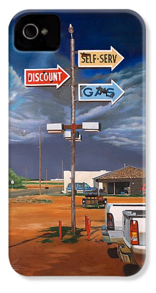 Discount Self-serv Gas IPhone 4 / 4s Case by Karl Melton