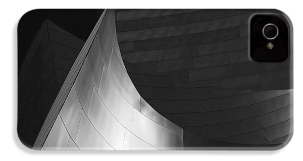 Disney Hall Abstract Black And White IPhone 4 / 4s Case by Rona Black