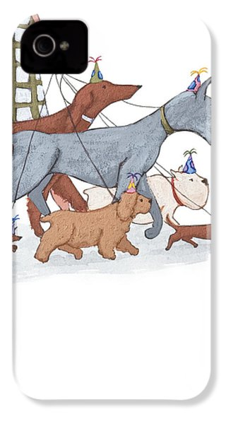 Dog Walker IPhone 4 / 4s Case by Christy Beckwith