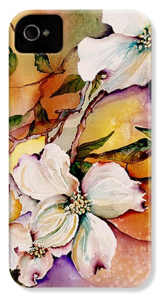 Dogwood In Spring Colors IPhone 4 / 4s Case by Lil Taylor