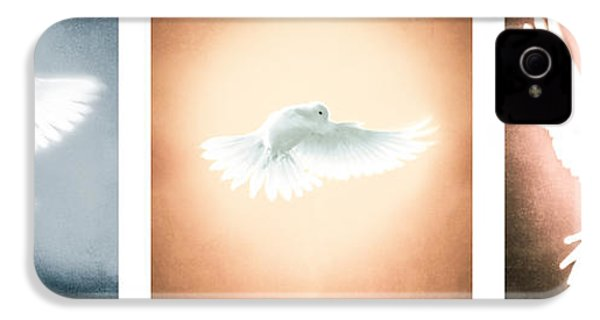 Dove In Flight Triptych IPhone 4 / 4s Case by YoPedro